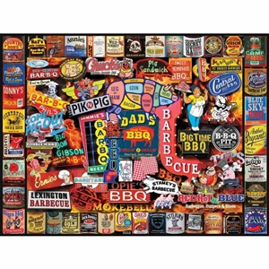 Love this White Mountain Barbeque Jigsaw Puzzle! | Made in Massachusetts | LaBelle's General Store