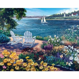 Love this White Mountain Garden by the Bay Puzzle! | Made in Massachusetts | LaBelle's General Store