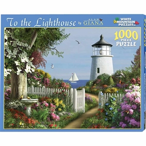 Love this White Mountain Lighthouses Puzzle! | Made in Massachusetts | LaBelle's General Store