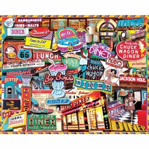 Love this White Mountain Retro Diner Puzzle! | Made in Massachusetts | LaBelle's General Store