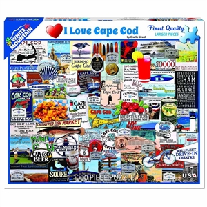 I Love Cape Cod Puzzle by White Mountain Puzzles! | Made in Massachusetts | LaBelle's General Store