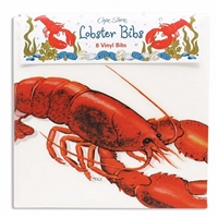 stay clean during your next Lobster bake! | vinyl Lobster Bib set | LaBelle's General Store