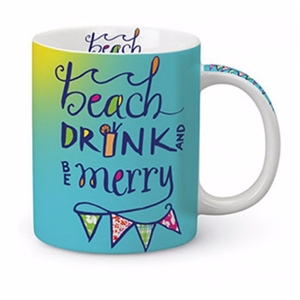 Love these colors!  Beach, Drink & Be Merry Mug | LaBelle's General Store