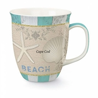 What a beautiful coastal mug | Cape Cod Harbor Mug Beach House | LaBelle's General Store
