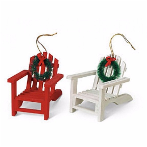 These Cape Cod Adirondack & Wreath Ornaments just capture the essence of a Cape Cod vacation.
