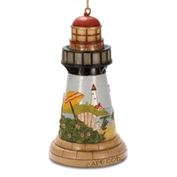 Cape Cod Lighthouse Scene Ornament | Cape Cod Christmas Ornament | LaBelle's General Store