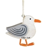 love this adorable seagull! | Cape Cod Seagull Wood Ornament | Laser cut wooden Christmas Ornament.