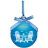 Gorgeous, Gorgeous! Cape Cod Light-up Glass Ball Ornament - Beach Chairs