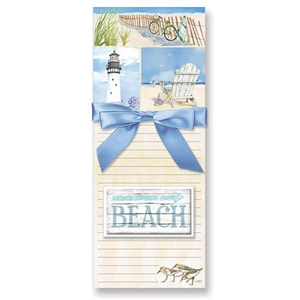 My favorite Coastal Collage designed list pads | Magnetic Pad Gift Set with magnet