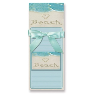 I love this heart + beach list pad | Magnetic Pad Gift Set - <3 BEACH with magnet