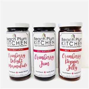 Five of the best Cape Cod Cranberry Harvest Jams and Jellies are included in this Beach Plum Kitchen Set | LaBelle's General Store