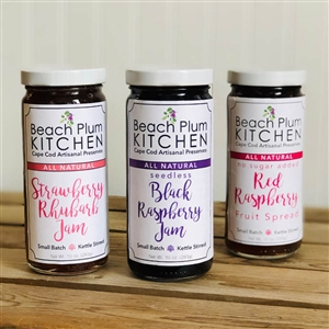 These jams make you think of Summertime on Cape Cod!  Beach Plum Kitchen dessert jam flavors | LaBelle's General Store