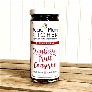 Cape Cod's Beach Plum Kitchen makes their signature amazing, artisanal Cranberry Pepper Jelly with all natural, non-gmo ingredients.