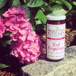 Cape Cod's Beach Plum Kitchen makes their signature amazing, artisanal Red Raspberry Fruit Spread without added sugar