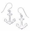 Sterling Silver Anchors Away Earrings | nautical preppy earrings by Boma | LaBelle's General Store