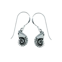 Listen to the ocean! Sterling Silver Nautilus Seashell Earrings | coastal earrings by Boma | LaBelle's General Store