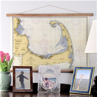 Obsessed with this vintage, 1957 Cape Cod Nautical Chart Poster at LaBelle's General Store