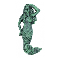 Verdigris Cast Iron Mermaid Hook
