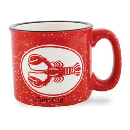 I adore this red lobster Cape Cod Campfire Mug | The cool way to enjoy coffee, soup or ice cream | LaBelle's General Store #lumberjackstyle