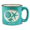 I love this Cape Cod Campfire Mug - Shell design | The cool way to enjoy coffee, soup or ice cream | LaBelle's General Store