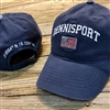 This attractive Dennisport Baseball Hat features the American Flag and the latitude longitude embroidered on the back.
