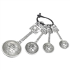 Pewter Measuring Spoons Recipe For Love Design or Recipe for Friendship | LaBelle's General Store