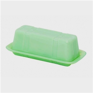 Jadeite Milk Glass Tableware - Butter Dish | LaBelle's General Store Spring Kitchen Tableware