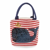 the cutest nautical canvas tote bag | Whale Tote Bag | LaBelle's General Store