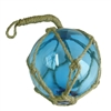 I love using these Blue Glass Fishing Float Buoys as an accent grouped in a bowl and they're so pretty on my nautical Christmas Tree.