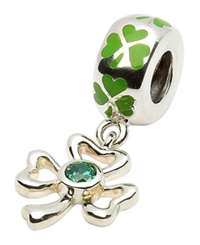 Tara's Diary Dangle Shamrock Charm Bead
