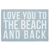 I Love You to the Beach and Back Wooden Postcard | LaBelle's General Store