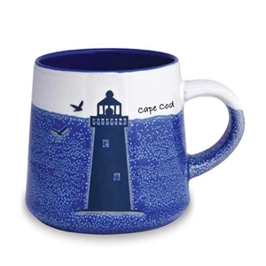 love this lighthouse designed, artisan Cape Cod mug! | Map of the Cape Mug