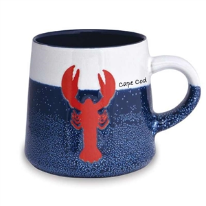 love this lobster designed, artisan Cape Cod mug! | Map of the Cape Mug