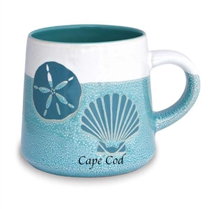 love this seashell designed, artisan Cape Cod mug! | Map of the Cape Mug