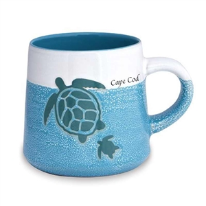 love this turtle designed, artisan Cape Cod mug! | Map of the Cape Mug