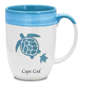 love this turtle designed Cape Cod mug! | Map of the Cape Mug