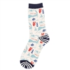 Seaside crew length Coastal Cape Cod Socks | LaBelle's General Store