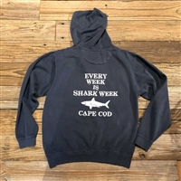 The best Every Week is Shark Week on Cape Cod Mini Zip Hoodie | LaBelle's General Store