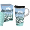The Water is Calling!  Beach Ceramic Travel Coffee Mug, Gift Boxed | Dishwasher & Microwave safe | LaBelle's General Store