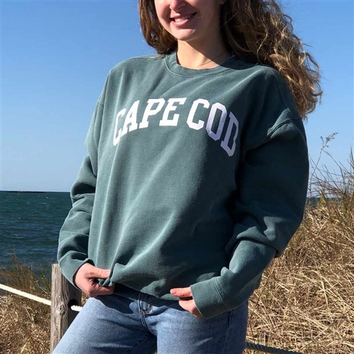 I love this garment dyed sage green Cape Cod Crewneck Sweatshirt | LaBelle's General Store