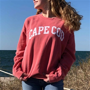 I love this garment dyed watermelon Cape Cod Crewneck Sweatshirt | LaBelle's General Store