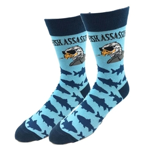 Fish Assassin crew length Socks | LaBelle's General Store
