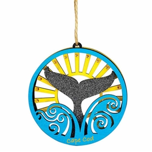 I love this wooden cut-out Whale Tail Ornament! | Cape Cod Whale Tail | LaBelle's General Store