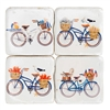Just too cute!  Beach Bicycle Coaster Set for the beach house!