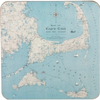 Cape Cod Coasters - Set of 4 - handsome map print