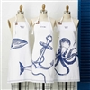 Nautical Apron | Whale-Octopus-Anchor Nautical Apron!  Adjustable and made of 100% cotton | LaBelle's General Store