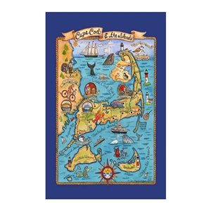 Cape Cod & Islands Destinations Towel | Poster design | LaBelle's General Store