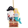 Pirate treasure! | Cape Cod Black Pirate and Mermaid Ornament | Christmas Ornament.