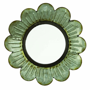 the cutest flower cut-out metal mirror!  perfect for my mudroom! | LaBelle Cape Cod
