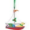 you have to have this adorable Sailing Dog ornament! | Cape Cod Sailboat Ornament | LaBelle's General Store